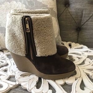 Michael Kors Ankle Wedge Boots Woman's 8